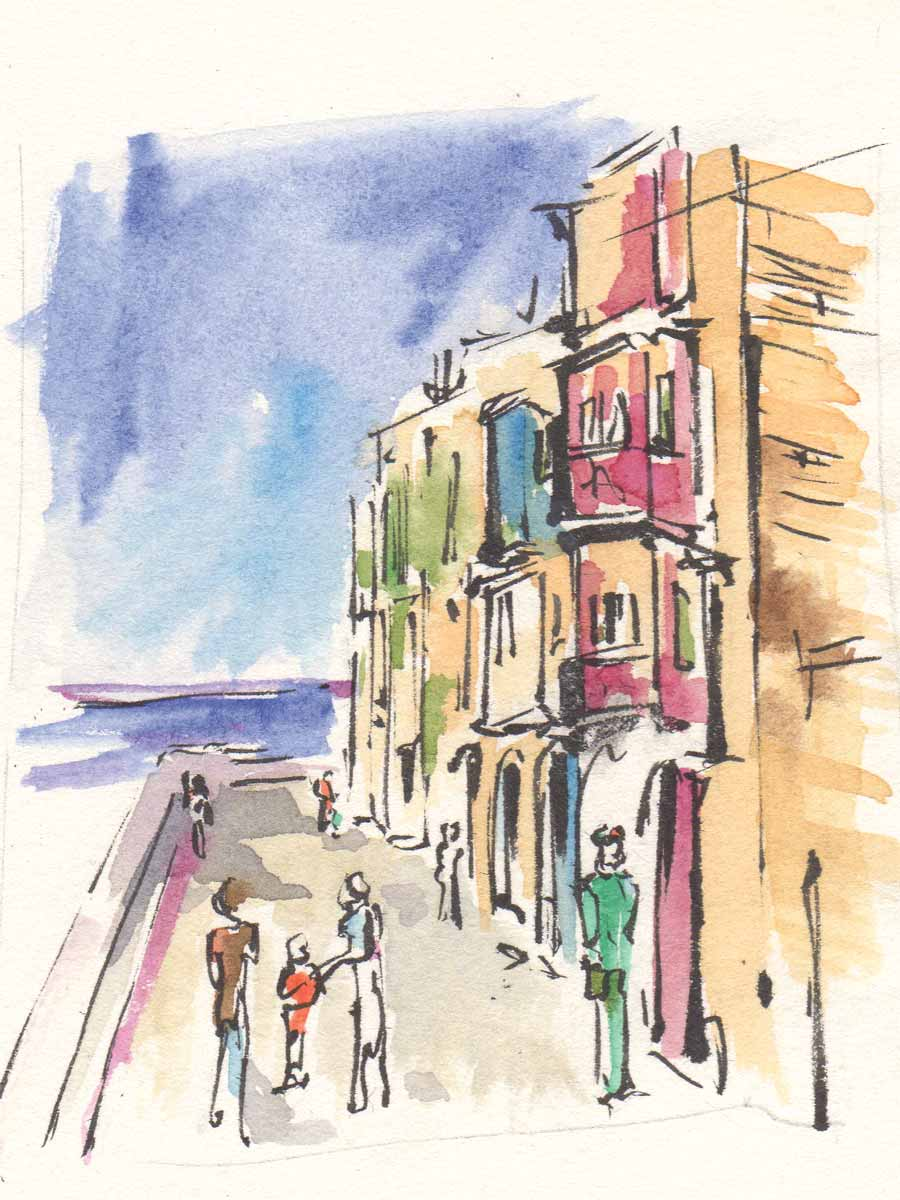 La Valletta, disegno di Luca Braidotti
