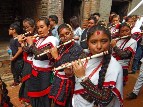 Festività Gai Jatra in agosto a Bhaktapur, Nepal