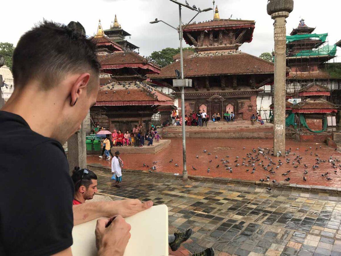 Piazza Durbar a Kathmandu