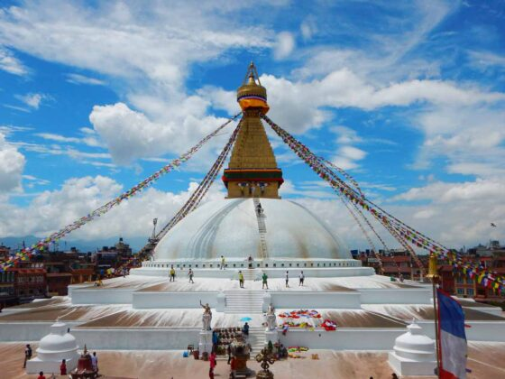 Viaggio in Nepal in agosto, stupa Boudhanath