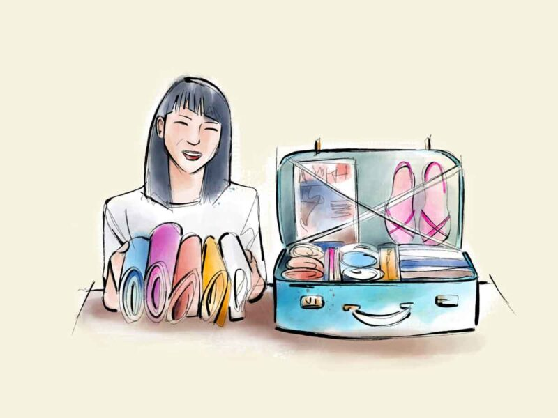 Sushi valigia metodo KonMari