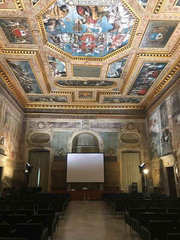 Il Salone del Parlamento al Museo del Castello di Udine
