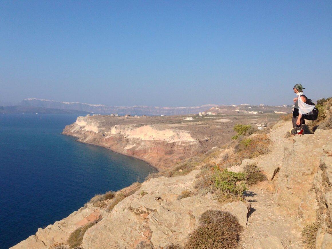 La punta sud di Aktrotiri, nei pressi del faro