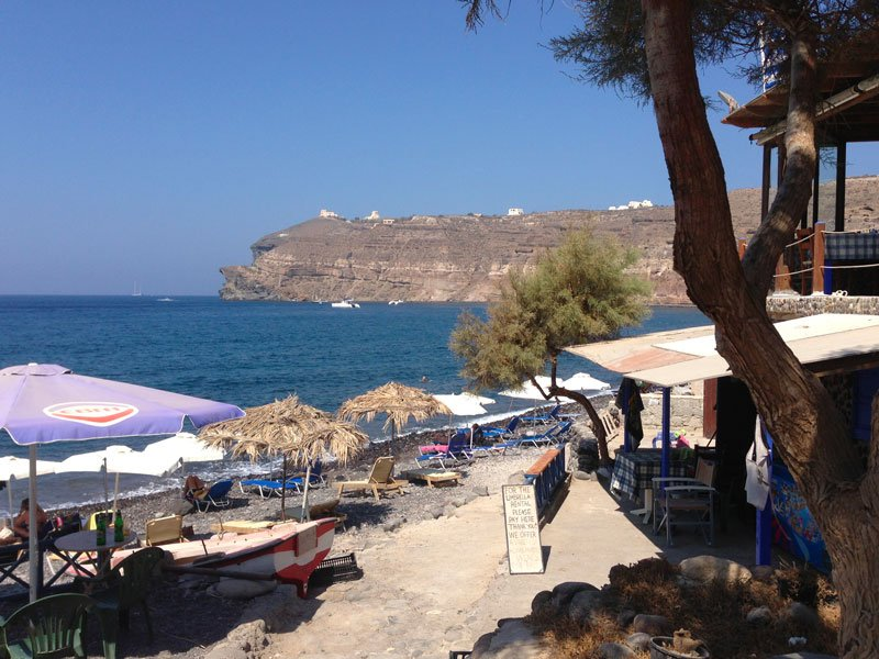 Santorini, baia Mesa Pigadia