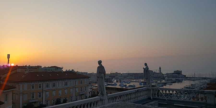 Vista sul Golfo di Trieste dal sesto piano del Museo Revoltella