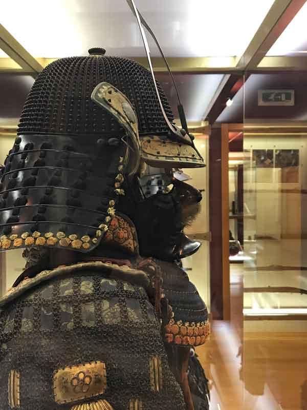 Armatura da samurai esposta a Trieste al Museo d'arte Orientale